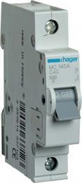 Автоматический выключатель Hager 1P 6kA C-40A 1M MC140A