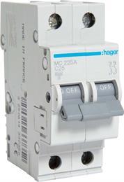 Автоматический выключатель Hager 2P 6kA C-25A 2M MC225A