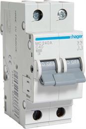 Автоматический выключатель Hager 2P 6kA C-40A 2M MC240A