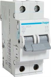 Автоматический выключатель Hager 2P 6kA C-63A 2M