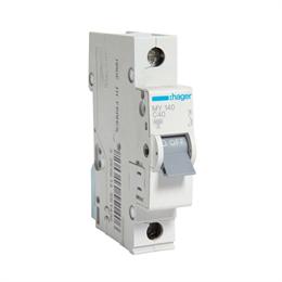 Автоматический выключатель Hager 1P 4, 5kA C-40A 1M