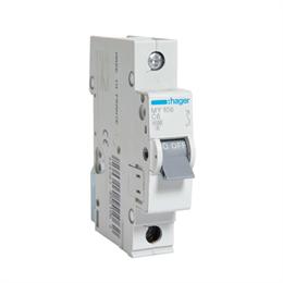 Автоматический выключатель Hager 1P 4, 5kA C-6A 1M