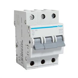 Автоматический выключатель Hager 3P 4, 5kA C-10A 3M