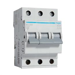 Автоматический выключатель Hager 3P 4, 5kA C-20A 3M