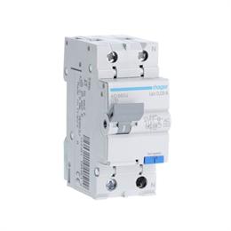 Дифференциальный автоматический выключатель Hager 1P+N 4.5kA C-10A 30mA AD860J