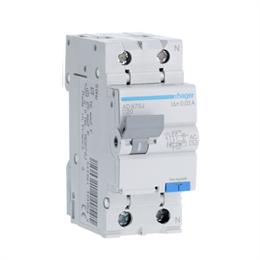 Дифференциальный автоматический выключатель Hager 1P+N 4.5kA C-20A 30mA AD870J