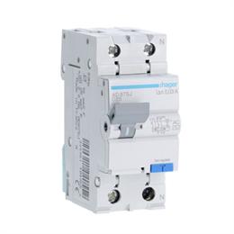Дифференциальный автоматический выключатель Hager 1P+N 4.5kA C-25A 30mA AD875J
