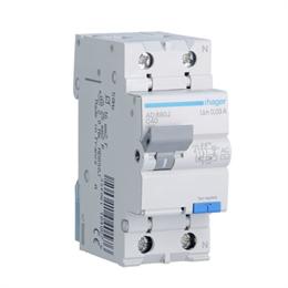 Дифференциальный автоматический выключатель Hager 1P+N 4.5kA C-40A 30mA AD890J