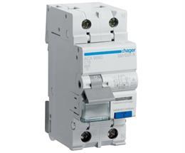Дифференциальный автоматический выключатель Hager 1P+N 6kA C-16A 10mA A ACA966D