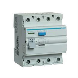 Устройство защитного отключения Hager 4P, 25А 30 мА, Тип А, ширина 4М CD425J