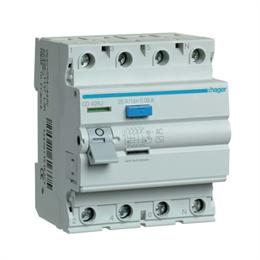 Устройство защитного отключения Hager 4P 25A 30mA AC CD426J