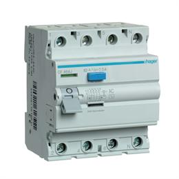 Устройство защитного отключения Hager 4P 63A 300mA AC CF464J
