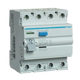 Устройство защитного отключения Hager 4P 63A 30mA AC CD464J