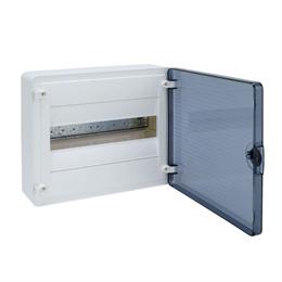 Щит открытой установки Hager, 12М, с прозрачной дверцей VS112TD