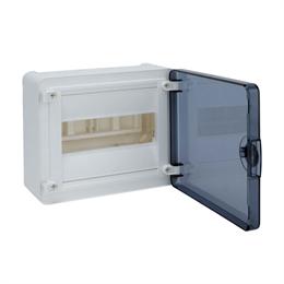 Щит открытой установки Hager, 8М, с прозрачной дверцей