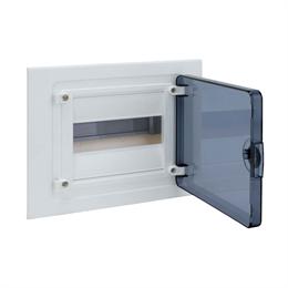 Щит скрытой установки Hager, 8М, с прозрачной дверцей VF108TD