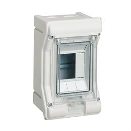 Щиток распределительный навесной Hager Vector, IP65, 3M, прозрачная дверь