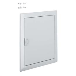 Наружная рамка с крепежом с дверью для встраиваемого щита Hager Volta, 1-рядного