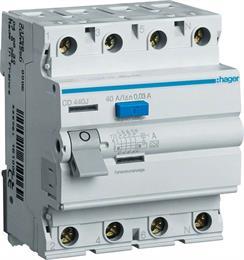 Устройство защитного отключения Hager 4P, 40А 30 мА, Тип А, ширина 4М CD440J
