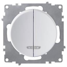 Выключатель OneKeyElectro двойной, с подсветкой