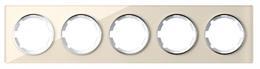 Рамка стеклянная OneKeyElectro, серия Garda, горизонтальная, 5 постов